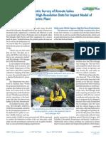 Bathymetric Survey of Remote Lakes