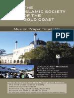 Islamic Society GC Perpetual Prayer Timetable