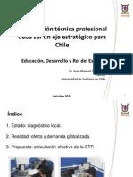 Formacion Tecnico Profesional, Un Eje Estrategico de Chile.