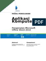 04. Pengenalan Ms. Word 2010