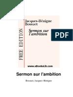 Bossuet-Sermon Sur l'Ambition