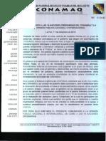 Comunicado Del Conamaq Legitimo a Las Naciones Originarias y La Opinion Publica Nacional e Internacional