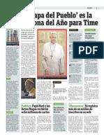 El Papa del Pueblo es el hombre del año para Time