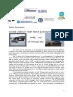 Unesco Sendai LBD Participant Call