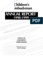 Michigan Office of Children's Ombudsman Annual Report 1999