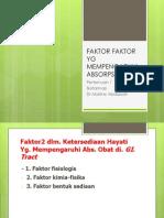 Faktor Faktor Yg Mempengaruhi Absorpsi Obat Pert i