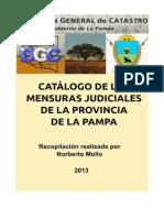 Catálogo de las mensuras judiciales de la Provincia de La Pampa