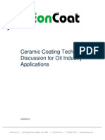 Ceramic Coating Technical Discussion for Oil Industry Applications