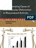 The Underlying Cause of Microvascular Disfunction in Rheumatoid