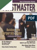 Toastmaster monthly Magazine January 2007
