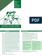 Cartilha - Impactos ao meio ambiente no uso de animais para alimentação (Sociedade Vegetariana Brasileira )