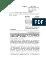 Artemio Morales Barboza Solicita Reconsideracion Ugel