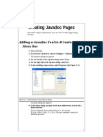 Creating Java Doc Pages