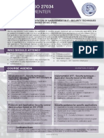 ISO 27034 Lead Implementer - Two Page Brochure