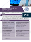 ISO 27034 Lead Auditor - Four Page Brochure
