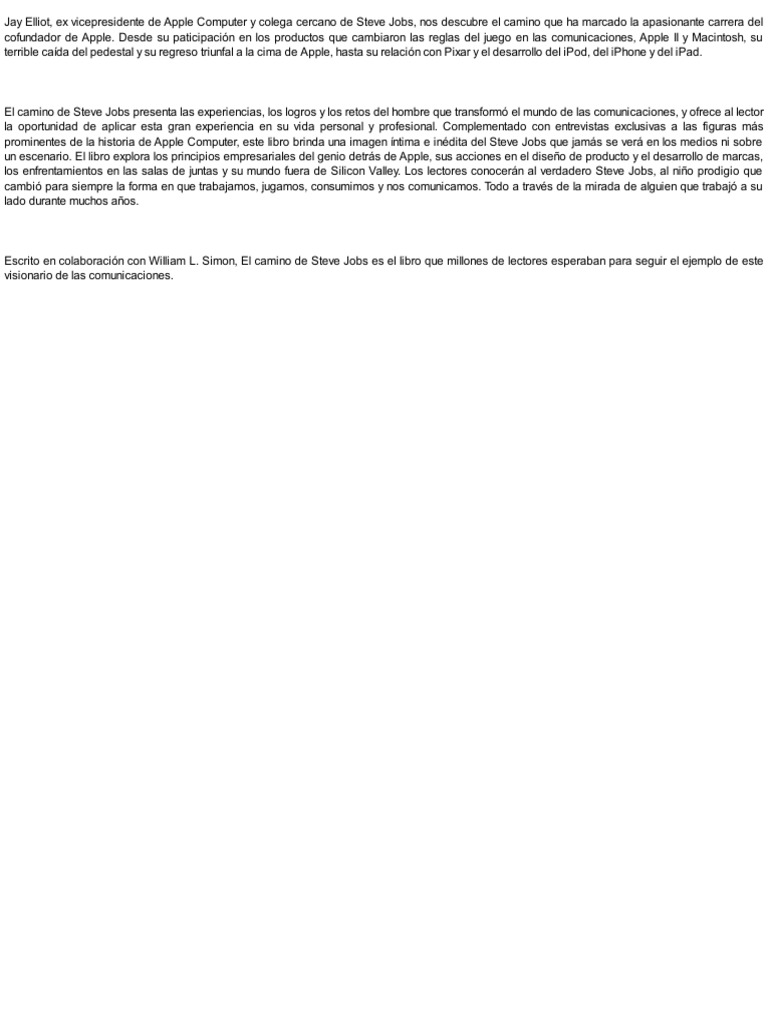 Steve Jobs Resumen De La Pelicula. resumen del libro el camino de ...