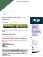 Convocatoria Examen de Dominio LICEL Agosto 2013