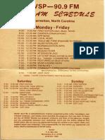 WVSP Program Schedule