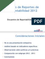 Estandares de Reportes de Sustentabilidad 2012 (12 12 2013)