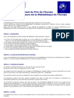 1456 - Règlement Prix de l'Europe de la médiathèque de Bussy Saint-Georges