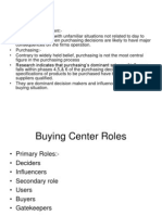 Buying Center Roles