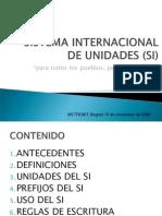 I. METROLOGÍA BÁSICA. SISTEMA INTERNACIONAL DE UNIDADES