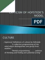 Criticism of Hofstede_s Model