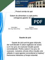 Proiect cerințe de apă