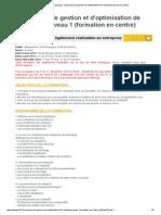 Formation Entreposage _ Techniques de Gestion Et d'Optimisation de l'Entrepot (Session en Centre)