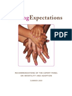 Recommendations of the Expert Panel on Infertility and Adoption
