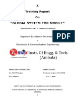 Training Report on GSM (Global System for Mobile)