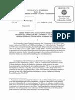 Informe de la CFTC sobre la manipulación del Euribor por parte de UBS