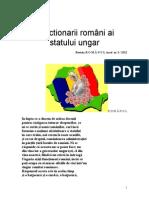 Functionarii români ai statului ungar