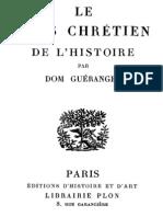 Le sens chrétien de l'histoire. D. Prosper Guéranger