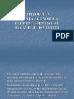 CAPITOLUL IV Ef. Investitiilor