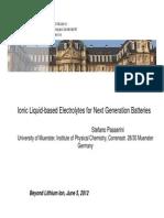 Ionic Liquid Electrolyte Development