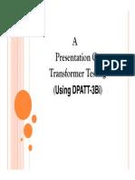 109886018 Transformer Testing