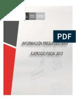 Informacion Presupuestaria