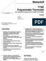 Manual Del Usuario - Termostato Programmable Commercial T7350