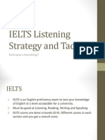 IELTS Listening Strategy and Tactics