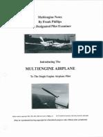 multi engine notes