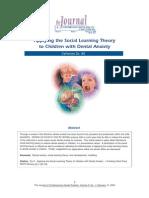 Carherine Do - Dental Anxiety - Social Learning