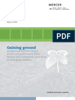 Gaining Ground — Sustainable Investment Rising in Emerging Markets (March 2009)