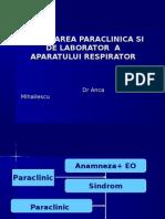 Explorarea Functionala a Aparatului Respirator 2013
