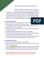 2009 2YearProgramRe Registration(Exam Assignment) August 2013