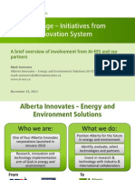 Energy Storage - Initiatives from Alberta's Innovation System
