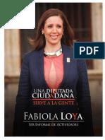 Primer Informe de actividades Fabiola Loya