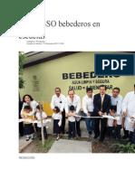 10/12/13 Elibertador Instala SSO Bebederos en Escuelas