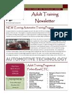 Adult Training Newsletter Winter 2014