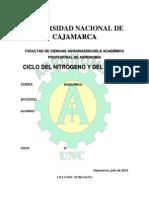 Ciclo de Nitrogeno y Azufre